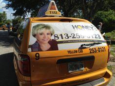Tampa Taxi Advertising #TampaAdvertising #taxiadvertising #taximediasolutions #ooh #oohadvertising #tampa #yellowcab