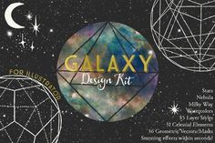 @newkoko2020 Galaxy Design Kit for Illustrator by Studio Denmark on @creativemarket #feminine #watercolor #female #branding #brand #style #women