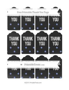 HAS MANY COLORS--PAGES 41-60--Free Pastel Dark Blue Star Pattern Thank You Tags on Chalkboard--- http://www.printabletreats.com/page/43/?s=Chalk+style+treat+bags&colorOptions&categoryOptions