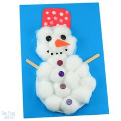This cotton ball snowman craft is perfect for preschoolers and kids in kindergarten, it's super easy to make and allows for creativity when it comes to decorating! We've been making quite a few snowman crafts these past few days, some are already on the blog and quite a few are yet to come in the …