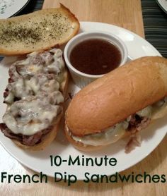 10 Minutes French Dip Sandwiches