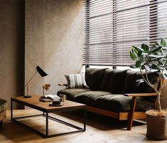 Home Furniture, Furniture Design, Retro Interior Design, Small Workspace, Living Spaces, Living Room, Minimalist Home Interior, House Rooms, Interior Architecture
