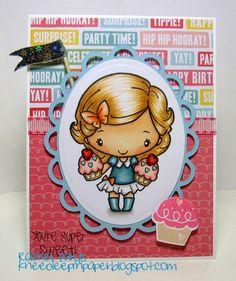 Knee Deep In Paper: Cupcake Anya!! http://kneedeepinpaper.blogspot.com/2014/02/cupcake-anya.html