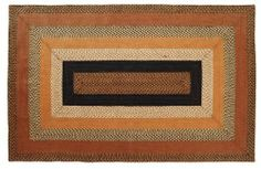 """Harvest Time Jute Rug Rectanglar 60x96"""" by Victorian Heart. $164.95. All cloth items in our collections are 100% preshrunk cotton. All braided items (like rugs, baskets, etc.) are 100% jute. Product measurements and additional details listed in title and/or Product Description below.. See Product Description below for colors and details. Extensive line of matching items and accessories available! (Search by Collection name). High end quality and workmanship!. Const..."""
