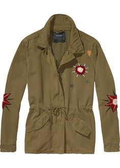 Maison Scotch Armyjakke 136858 Embroidered Military Jacket