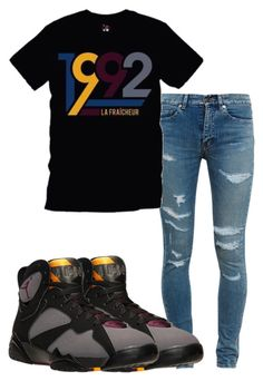 """""""jordan"""" by monkeyrainbow ❤ liked on Polyvore featuring Yves Saint Laurent and NIKE"""