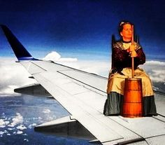 There's a colonial woman on the wing, she's churning butter! Hahahahaha bridesmaids.