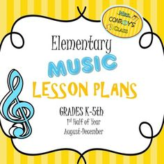 These elementary music lesson plans include lesson plans for elementary music, grades K-5th for months August through December. Music lessons include a brief description of the activities and songs each grade will participate in during one 50 minute class period.