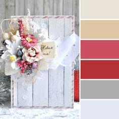 Этой Ярмарки краски: 15 новогодних цветовых палитр от мастеров портала - открытка
