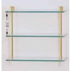 "Allied Brass FT-5/16-PB Polished Brass Foxtrot Triple Glass Shelf from the Foxtrot Collection FT-5/16 by Allied. $72.15. Triple Glass Shelf from the Foxtrot CollectionAvailable in several finishesTriple glass shelf 3/8"" thick tempered glass Solid brass, glass construction5"" wide glass"