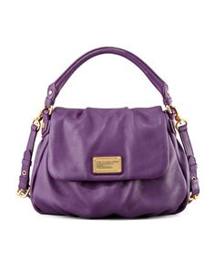 Classic+Q+Lil+Ukita+Satchel+Bag,+Purple+at+CUSP.
