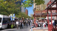 16th Street Mall is awesome walking area for stores, food, people watching etc - busy even at night so good choice for hanging out downtown