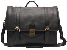 Comfort 15 inch Pure Leather Black Laptop Bag for men and women unisex EL39