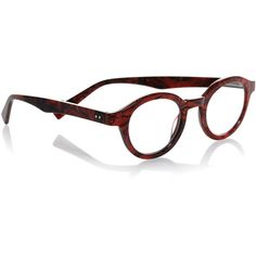 """Eyebobs.  TV Party Round Marbled Readers, Red.  Eyebobs """"TV Party"""" acetate reading glasses.  Round polycarbonate lenses, can be fitted with prescription lenses…"""