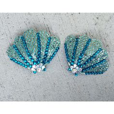 SEASHELL MERMAID PASTIES Shell Burlesque Dancer Sexy Gift Bridal... (140 MYR) ❤ liked on Polyvore featuring intimates, bridal lingerie, glitter lingerie, rhinestone lingerie, bride lingerie and sexy lingerie