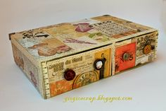 Upcycle cereal boxes etc. be fun to create collages. Consider creating a single box with a lid. With the diagonal cut
