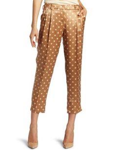 Robert Rodriguez Women's Polka Dot Cropped Trouser