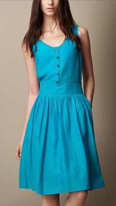 Textured Silk Dress   Burberry