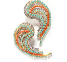 Gemstones and Diamonds Paisley-esque Alas Earrings