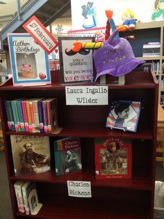 Author Birthday book display - will change month and author's names