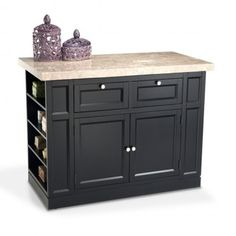 Looking for more counter space in your kitchen? More storage? You haven't seen quality & convenience until you've seen my Montibello Kitchen Island! With pull through drawers, cabinet doors, and open shelves on t Kitchen Kit, Diy Kitchen Island, Kitchen Ideas, Save For House, Contemporary Kitchen Cabinets, Discount Furniture, Kitchen Furniture, Home Accents, Kitchen Remodel