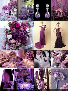 Don't like the majority of the things pictured, but I'm just happy that I'm not the only one who wants a purple wedding!!!