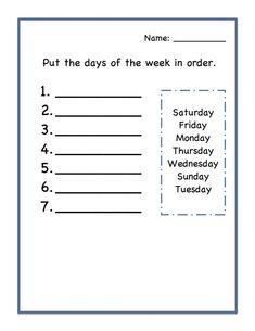 Calendar Worksheets for Kindergarten Days Of the Week Worksheets Kids Learning Activity Calendar Worksheets, Printable Preschool Worksheets, Worksheets For Kids, Calendar Skills, Tracing Worksheets, Free Printables, Days Of The Week Activities, Kids Learning Activities, Teaching Kids