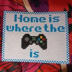 Home is where the XBox is - Frame hama beads by arctic_raccoon_