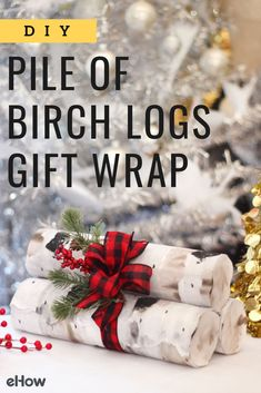 During the winter holidays, we love the sight of logs by the fire. But take a closer look—these aren't logs, they're gifts cleverly wrapped in mailing tubes that are decorated like birch timber. What a fun way to showcase your holiday packages so they stand out under the tree.