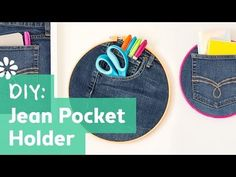 How to Make a Jean Pocket Holder - YouTube