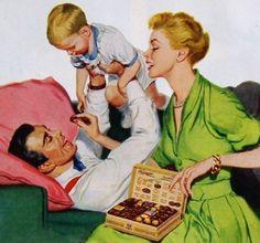 Mothers Day - detail from 1950 Whitmans Candy ad. Vintage Advertisements, Vintage Ads, Vintage Images, Vintage Prints, Vintage Posters, Retro Images, Photo Vintage, Vintage Love, Pin Up