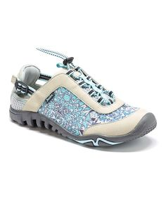 Look at this Stone Blue Gray Raven Air 360 Leather Sneaker on #zulily today!
