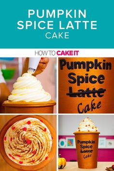 Pumpkin Spice Latte Cake | I was determined to ELEVATE this Pumpkin Spice Latte Cake, and bring that yummy flavour to the next level! This cake is served in a copper fondant cup, and decorated to make you feel warm even on the coldest of nights! | How To Cake It #Pumpkinspice #Cake #Baking