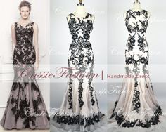 2014 Gorgeous Mermaid Lace Applique Straps Beading Evening Dresses, Prom Dresses, Wedding Dress Evening Gown, Prom Gown