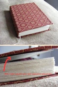 DIY Bookbinding/Bookmaking: How to bind/make your own book, journal, etc. from scratch. Handmade Notebook, Diy Notebook, Notebook Covers, Handmade Journals, Handmade Books, Journal Covers, Book Journal, Handmade Rugs, Handmade Crafts
