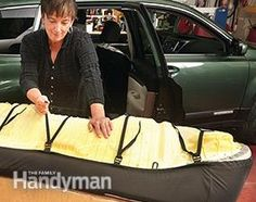 How to Install Seat Covers: Install rear bench seat cover. Here's how: http://www.familyhandyman.com/automotive/car-maintenance/spruce-up-your-car-how-to-install-seat-covers/view-all