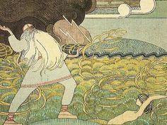 Joseph Alanen. Illustrations for the Kalevala. Väinämönen Joukahainen sings in the swamp
