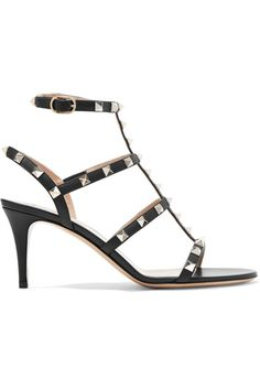 Valentino - Rockstud Leather Sandals - Black - IT