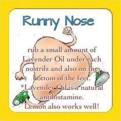 Runny Nose // natural antihistamine