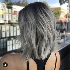 Are you looking for the most flattering silver/ grey hair color ideas and styles? Silver Blonde Hair, Ash Grey Hair, Short Silver Hair, Black Hair, Grey Ombre Hair Short, Grey Hair Dark Roots, Silver Ash, Ash Hair, Green Hair