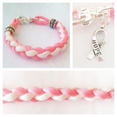 Breast Cancer Awareness Paracord Charm by ChelseaCarrollDesign