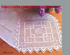 tablecloth embroidery design