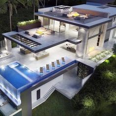 Pimpin My Friends ain't easy Dream Home Design, Modern House Design, Modern Mansion, Dream House Exterior, Villa Design, House Goals, Future House, Modern Architecture, Luxury Homes