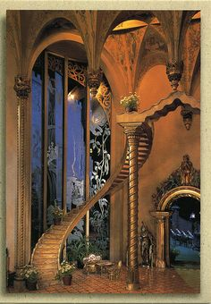 postcard - Fairy Castle Dollhouse, Great Hall by Jassy-50, via Flickr