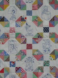 Simple Objects Quilt Top from Q is for Quilter ~ really simple piecing makes for a nice quilt design...<3