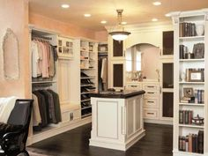 walk in closet with bookshelf