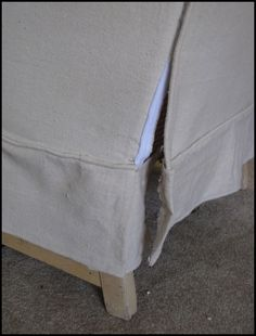 drop cloth slipcover tutorial for real people