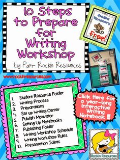 10 Steps to Prepare for Writing Workshop.  Rockin Resources blog post.
