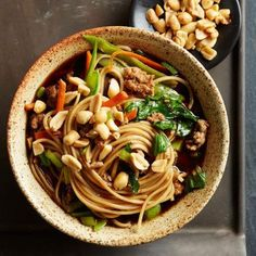 Szechuan Dan Dan: Originally sold as street food in China, this spicy dish features ground pork, lo mein noodles and a dark broth flavored with five-spice powder, black bean paste and black vinegar.  Recipe: http://www.midwestliving.com/recipe/szechuan-dan-dan/