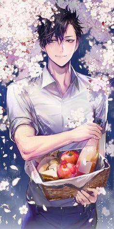 who are you pretty guy ?>>> Kuroo Tetsurou from Haikyuu! Kuroo Haikyuu, Kuroo Tetsurou Hot, Manga Haikyuu, Haikyuu Fanart, Kagehina, Kenma, Anime Boys, Chica Anime Manga, Hot Anime Boy